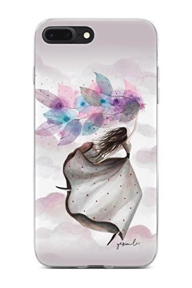 Lopard Apple İphone 8 Plus Kılıf Mutlu Peri Kapak Renkli